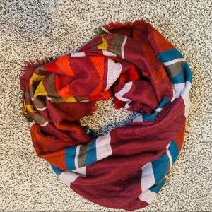 TRIBAL PATTERN SHAWL/OVERSIZED SCARF SOFT AND WARM